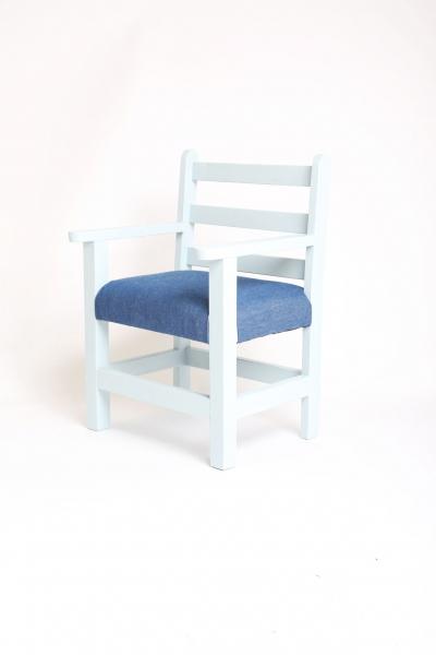 Blauwe stoeltje